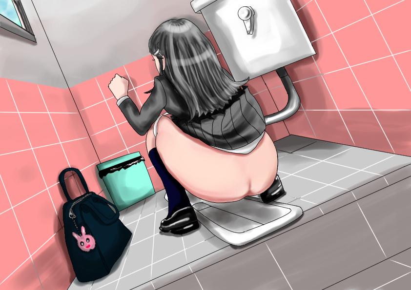 2次絵 JK和式トイレ
