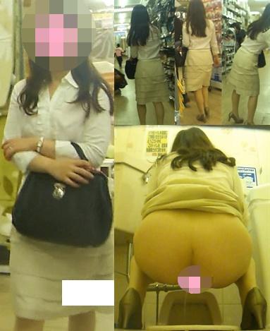 【盗撮】お姉さんの恥ずかしい排泄姿を隠し撮り8【清楚】