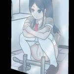 トップアイドルのトイレ姿をマジックミラーから覗く2次元イラスト