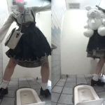 萌えエロ!オタサーの姫和式トイレ排尿覗き