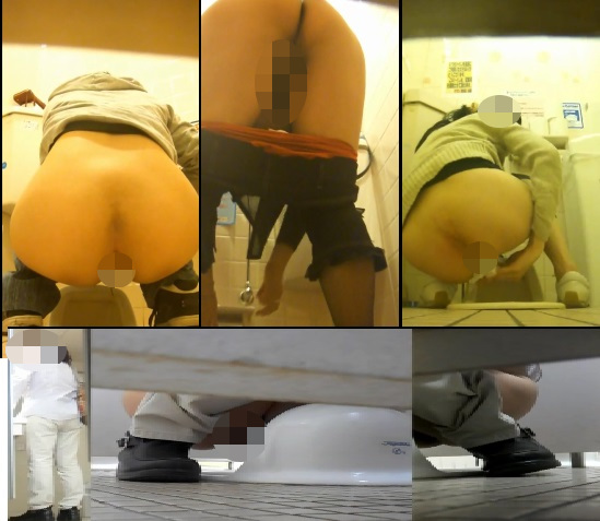 無)和式トイレ映像 ※色尻熟女の排便※綺麗可愛熟女の排尿